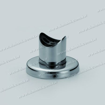 Stainless Steel Round Tube Handrail Support with Cover - Screw Invisible - Stainless Steel Round Tube Handrail Support with Cover - Screw Invisible