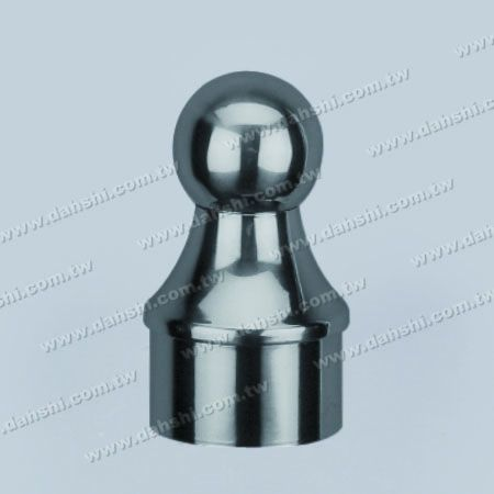 """Stainless Steel Round Tube Ball Type End Cap - Ball Size 1 1/2"""" - Stainless Steel Round Tube Ball Type End Cap - Ball Size 1 1/2"""""""
