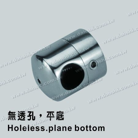 Stainless Steel Tube/Bar Holder Close End Flat Back - Stainless Steel Tube/Bar Holder Close End Flat Back