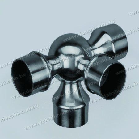 الفولاذ المقاوم للصدأ جولة أنبوب الداخلية 90 درجة الكرة نوع موصل 4 مخرج - الفولاذ المقاوم للصدأ جولة أنبوب الداخلية 90 درجة الكرة نوع موصل 4 مخرج