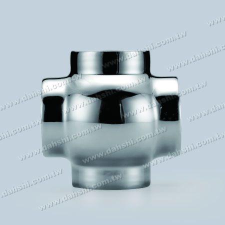 不銹鋼圓管插內十字型四通 - 圓型 - 沖壓製造 - 不銹鋼圓管插內十字型四通 - 圓型 - 沖壓製造