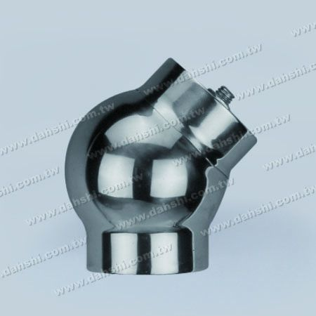 Stainless Steel Round Tube External 135degree Ball Connector - Casting Made - Stainless Steel Round Tube External 135degree Ball Connector - Casting Made