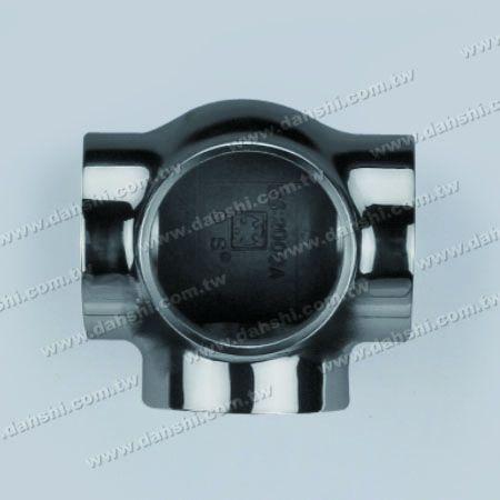 不銹鋼圓管插內90度四通 - 圓型 - 脫蠟製造 - 不銹鋼圓管插內90度四通 - 圓型 - 脫蠟製造