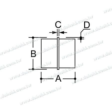 البعد : الفولاذ المقاوم للصدأ جولة أنبوب الداخلية رابط