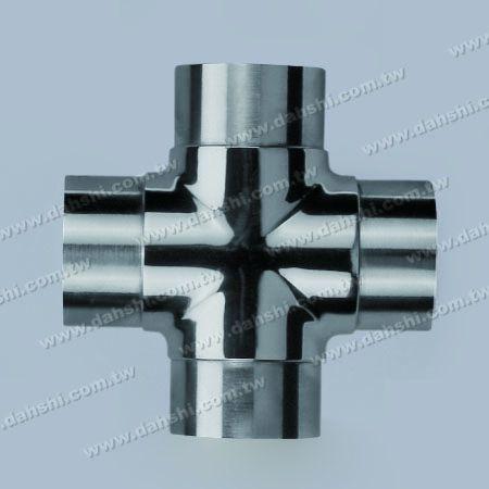 不銹鋼圓管套外十字型四通 - 不銹鋼圓管套外十字型四通