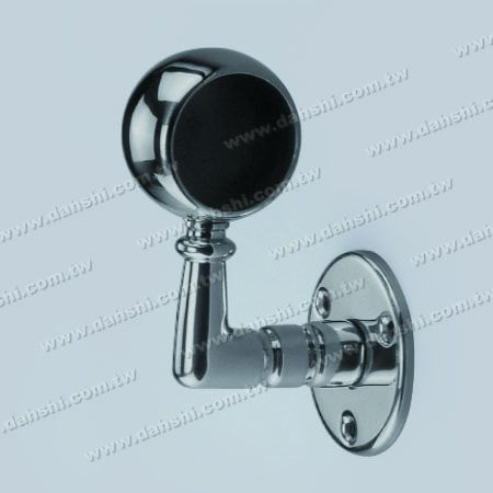 Screw Exposed Bracket - Internal Round Tube Handrail Wall Bracket End (Left Hand Side) - Screw Exposed Bracket - Internal Round Tube Handrail Wall Bracket End (Left Hand Side)