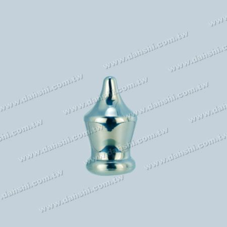 Stainless Steel Round Tube/Bar Crown Shape End Cap - Stainless Steel Round Tube/Bar Crown Shape End Cap
