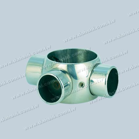 Stainless Steel Tube and Bar Connector 3 Way Out - Stainless Steel Tube and Bar Connector 3 Way Out
