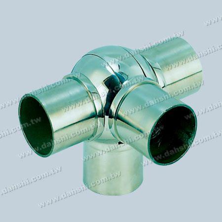 不銹鋼圓管套外圓型活動四通彎頭 - 不銹鋼圓管套外圓型活動四通彎頭