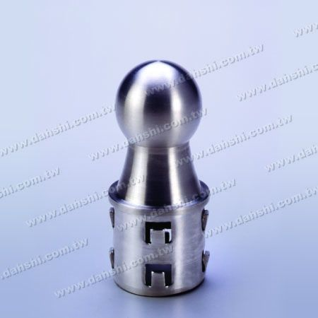 Stainless Steel Round Tube Ball Type End Cap with Exit Spring Design - Ball Size 36mm - Stainless Steel Round Tube Ball Type End Cap with Exit Spring Design - Ball Size 36mm