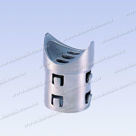 Paslanmaz Çelik Yuvarlak Boru Küpeşte Dik Post Eyer Konnektörü - Çıkış yayı tasarım- kaynak serbest / yapıştırıcı uygulanabilir