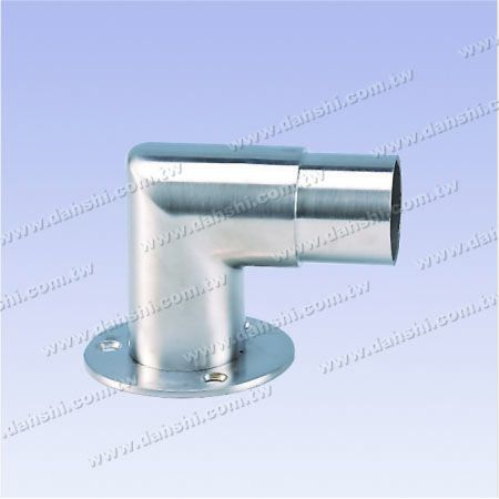 Stainless Steel Round Tube Handrail Support 90degree L Shape Elbow - Screw Expose