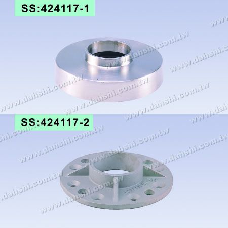 Stainless Steel Round Tube Handrail 2 Pieces Round Base - Screw Invisiable - Stainless Steel Round Tube Handrail 2 Pieces Round Base - Screw Invisiable
