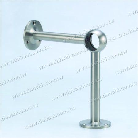 Footrest فلزی ضد زنگ پایه دیواری لوله (SS: 424132A) - Footrest فلزی ضد زنگ پایه دیواری لوله (SS: 424132A)
