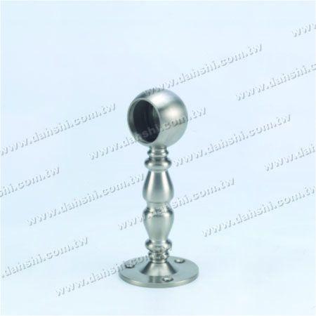 Footrest فلزی ضد زنگ پایه دیواری لوله (SS: 424137B) - Footrest فلزی ضد زنگ پایه دیواری لوله (SS: 424137B)