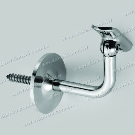 Self-Tapping Screw - Stainless Steel Round Tube Handrail Wall Bracket - Angle Adjustable - Self-Tapping Screw - Stainless Steel Round Tube Handrail Wall Bracket - Angle Adjustable