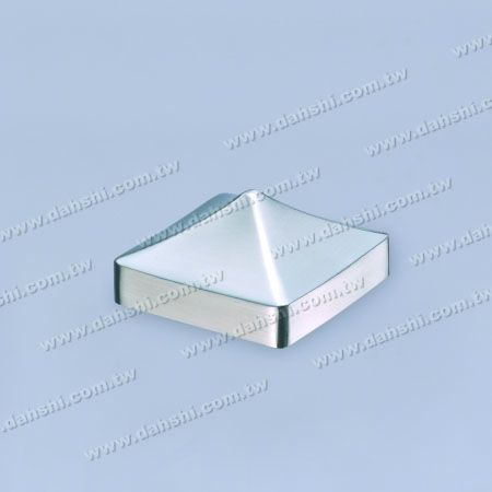 Stainless Steel Square Tube Spire Top External End Cap - Stainless Steel Square Tube Spire Top External End Cap