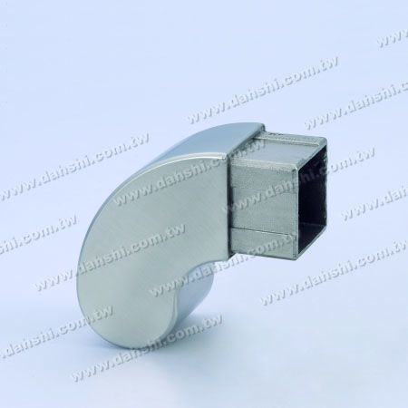 Stainless Steel Square Tube 90degree Elbow Dome Top End Cap - Stainless Steel Square Tube 90degree Elbow Dome Top End Cap