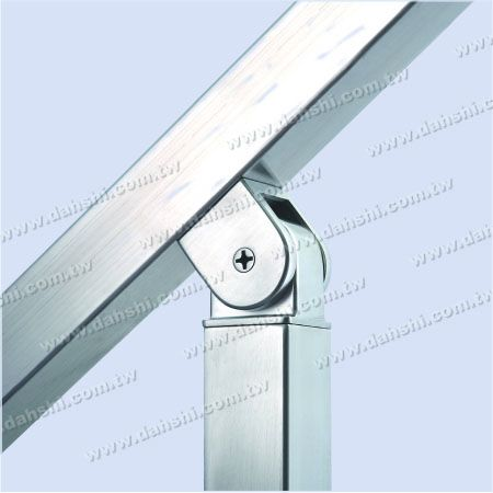 for Square Pipe - Stainless Steel Square Tube Handrail Perpendicular Post Connector Angle Adjustable Internal Fit