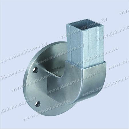 Stainless Steel Square Tube Handrail Support 90degree Elbow Round Back