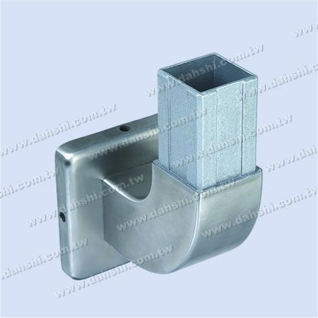 Stainless Steel Square Tube Handrail Support 90degree Elbow Square Back with Cover