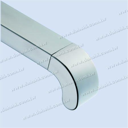 لأنبوب مستطيل - الفولاذ المقاوم للصدأ المستطيل أنبوب 90 درجة الكوع القبة أعلى نهاية كاب