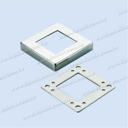 Stainless Steel Square Post 2 Pieces Base - Screw Invisible - Stainless Steel Square Post 2 Pieces Base - Screw Invisible