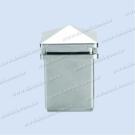 Stainless Steel Square Tube Spire Top Post Head - 2 Layers - Stainless Steel Square Tube Spire Top Post Head - 2 Layers