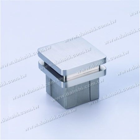 Stainless Steel Square Tube Flat Top End Cap Wide Exit - 2 Layers - Stainless Steel Square Tube Flat Top End Cap Wide Exit - 2 Layers