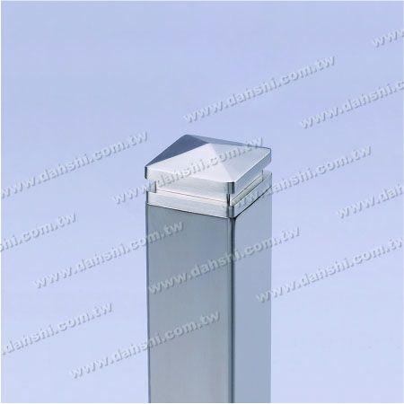 لأنابيب مربعة - الفولاذ المقاوم للصدأ ساحة الأنبوبة Spire Top End Cap - 2 Layers