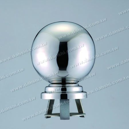 """Stainless Steel 4 1/4"""" Ball with Cover for 3"""" Pipe - Stainless Steel 4 1/4"""" Ball with Cover for 3"""" Pipe"""
