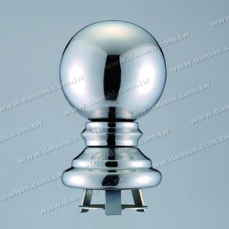 """Stainless Steel 4 1/4"""" Ball  x H6 1/2"""" with Cover for 3"""" Pipe - Stainless Steel 4 1/4"""" Ball  x H6 1/2"""" with Cover for 3"""" Pipe"""