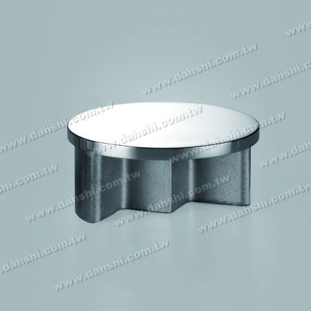 Stainless Steel Channel Round Tube Flat Top End Cap - Stainless Steel Channel Round Tube Flat Top End Cap - Mirror