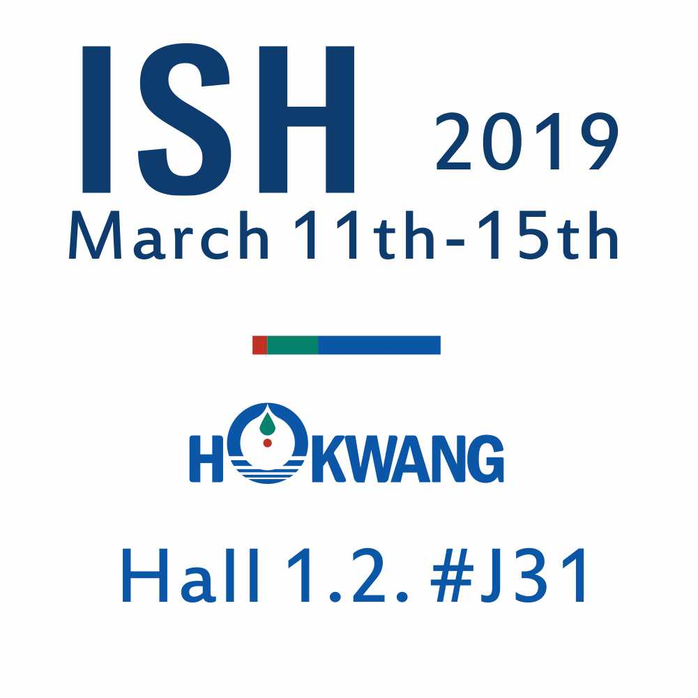 Hokwang will take part in the ISH show 2019