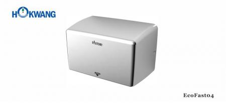 Bright Stainless Steel Compact Hand Dryer - EcoFast04 1000W Bright Stainless Steel Compact Hand Dryer
