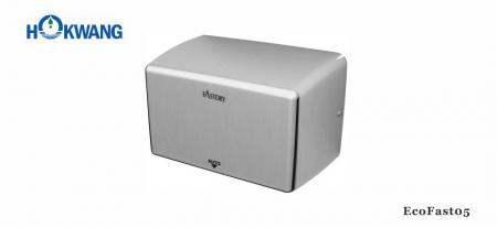 Satin Stainless Steel Compact Hand Dryer - EcoFast05 1000W Satin Stainless Steel Compact Hand Dryer
