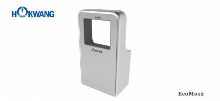 Silver Wheelchair Friendly Square-Shaped Jet Hand Dryer - EcoMo12 1600W Silver Wheelchair Friendly Square-Shaped Jet Hand Dryer