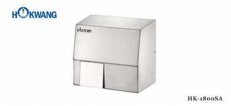 Stainless Steel Square 1800W Auto Hand Dryer - 1800SA Stainless Steel Square 1800W Auto Hand Dryer