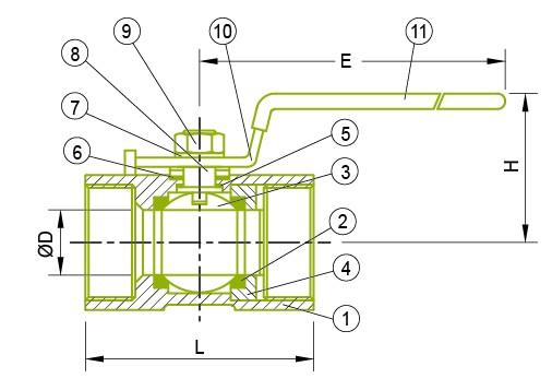 1-PC 볼 밸브
