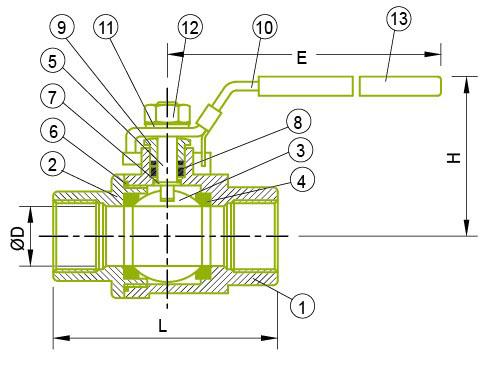 2-PC 볼 밸브