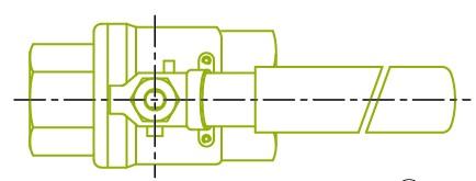 윗면 : 2-PC 볼 밸브