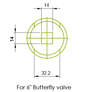 Manija inoxidable de la válvula de mariposa