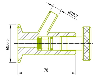 Clamp End Sample Hahnventil