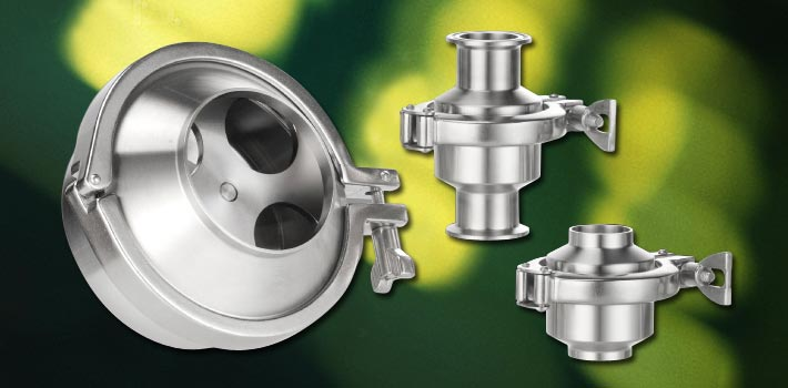 Non-return Valve and stainless steel vacuum components