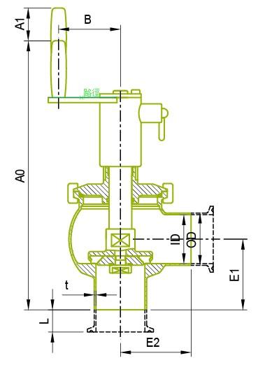 Původní manuální sedlový ventil