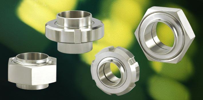 Union og rustfrit stål vakuum komponenter