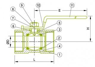 Zawór kulowy 1-PC Zawór kulowy 1-PC