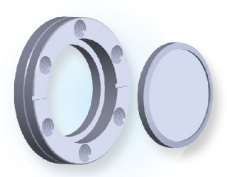 CF Rotatable Blank Tapped Flange CF
