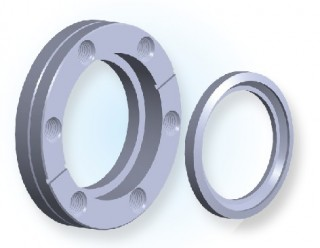 CF Rotatable Bored Blank Tapped Flange CF