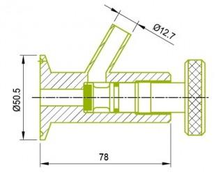 클램프 엔드 샘플 콕 밸브 샘플 콕 밸브